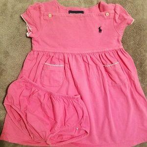 Ralph Lauren jersey pink dress